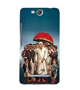 Om Sri Sai Amaraaya Baba 3D Hard Polycarbonate Designer Back Case Cover for MicromaxBoltQ338