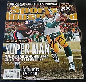Aaron Rodgers Green Bay Packers Signed Sports Illustrated Si Jsa Autograped Nol -... by Sports Memorabilia