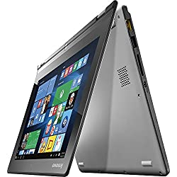 "2017 Newest Lenovo Yoga 2 11.6"" 2-in-1 Touchscreen Laptop, Intel Core i3 Dual-Core Processor, 4GB RAM, 500GB + 8GB SSHD, WiFi, Webcam, HDMI, Bluetooth, Windows 10, Silver"