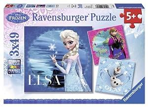 Ravensburger - 09269 - Puzzle Classique - La Reine des Neiges - Elsa/Anna/Olaf/Frozen - 3 X 49 Pièces