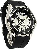 [シチズン Q&Q]腕時計 アトラクティブ ウレタンバンド アナログ メンズ ブラック×シルバー DA54J301Y [並行輸入品]