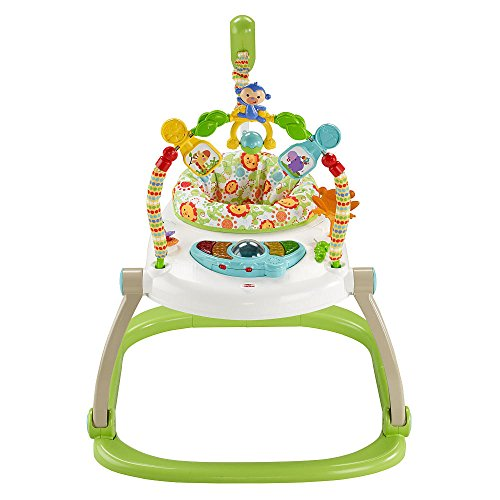 Best Price! Fisher-Price Rainforest Friends Spacesaver Jumperoo Baby Bouncer - Lights, Sounds, Music...