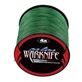 Warknife 4 Stands Super Strong Braided Fishing Line Tensile Strength 500Meters/546.8Yards 100LB Moss Green (Color: Moss Green, Tamaño: 0.60MM / 100LB)