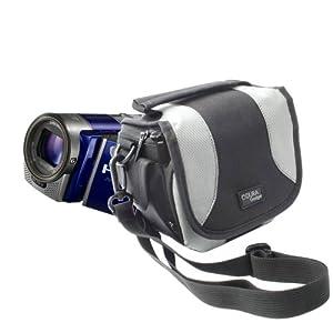 Sacoche de protection à multiples poches + lanière de transport pour Sony HDR-CX220EB.CEN, HDR-CX320EB.CEN, HDR-PJ220EB.CEN & PJ650VE Caméscopes Full HD avec mémoire flash - DURAGADGET