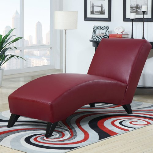 Global Furniture USA Polyurethane/Wood Chaise