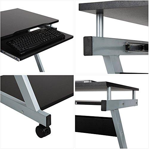 homfa computertisch computerschreibtisch brotisch. Black Bedroom Furniture Sets. Home Design Ideas