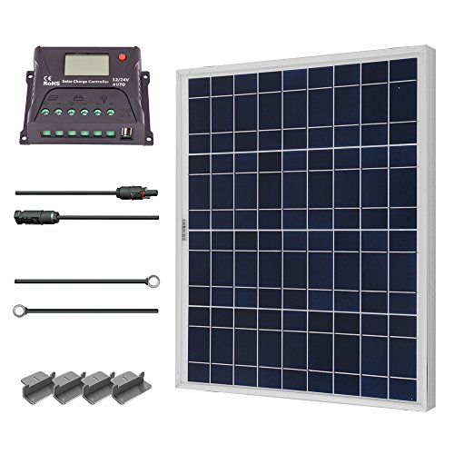 Renogy 50 Watt 12 Volt Polycrystalline Solar Starter Kit. (Starter Solar Panel Kit compare prices)