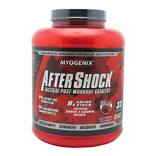 Myogenix AfterShock Tactical Post-Workout Catalyst Wildberry Blast -- 5.82 lbs