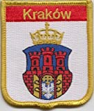Krakow Poland Flag Embroidered Patch Badge