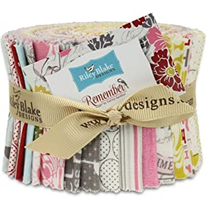 Riley Blake Remember Rolie Polie Jelly Roll, Set of 21 2.5x44-inch (6.4x112cm) Precut Cotton Fabric Strips