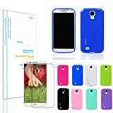FOR LG G2 CASE COVER Glossy slim thin silicone TPU jelly with DIESEL Screen Protector film D801 802 803 (Sprint / AT&T / T-Mobile/ ETC) (WHITE)