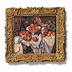 "Apples and Oranges - Gold Frame Magnet with pop-out easel (2-3/4"" x 2-1/2"")"
