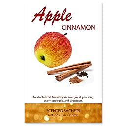 Scented Sachets Apple Cinnamon, 7.0 cu.in | Pack of 4.