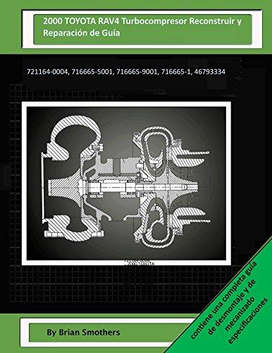 2000-toyota-rav4-turbocompresor-reconstruir-y-reparacion-de-guia-721164-0004-716665-5001-716665-9001