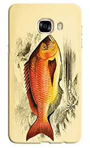 Omnam Fish With Orange Color Fully Printed Desinger Back Cover Case For Samsung Galaxy C5