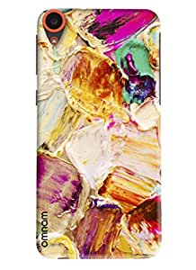 Omnam painting done with hardbrush effects designer back cover case for HTC Desire 820