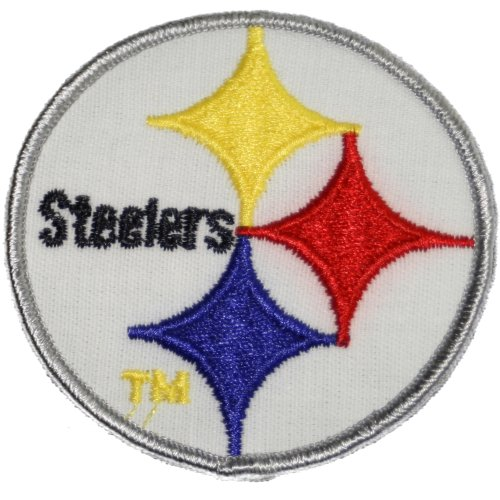 Pittsburgh Steelers Logo Embroidered Sew Iron on Patches Great Gift for Dad Mom Man Woman at Amazon.com
