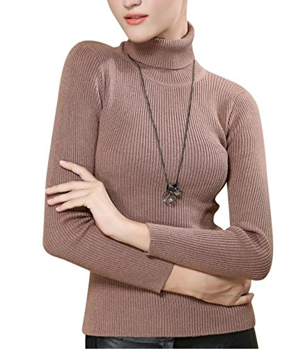 LongMing Women's Slim Was Thin Sweater(Large, Grey)