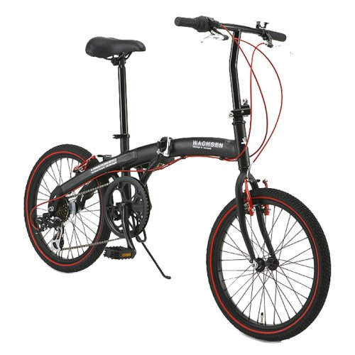 Wachsen (Vu~akusen) Angriff Ba-100-brd 6-speed Folding Bike 20 Inches Aluminum Frame