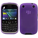 Gel Case Cover Shell And Screen Protector For Blackberry 9320 Curve / Purple