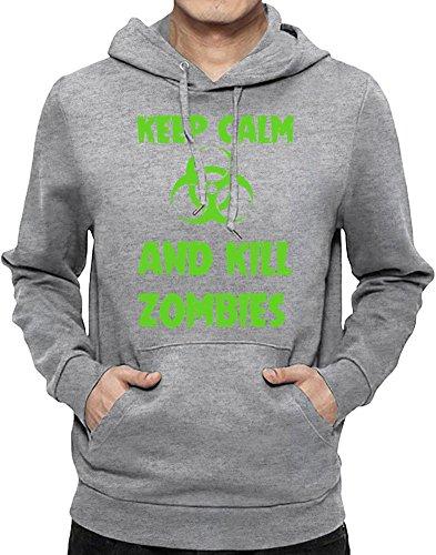 Keep Calm And Kill Zombies Felpa con cappuccio Uomo XX-Large