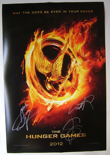 AUTOGRAPHED HUNGER GAMES POSTER + COA!