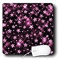 3dRose LLC 8 x 8 x 0.25 Inches Mouse Pad, Glitter Stars Pink (mp_41082_1)