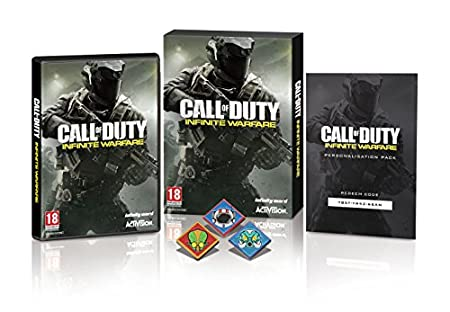 Call Of Duty: Infinite Warfare w/ Zombie Pin Badges and Hellstorm DLC (Exclusive to Amazon.co.uk) (PS4)