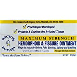 Doctor Butler's Hemorrhoid & Fissure Ointment...FDA Approved Pain Relief & Healing Formula (also contains Organic Herbs, Minerals and Amino Acids)