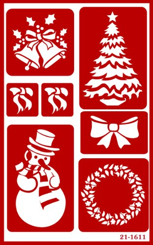 Armour Etch Over N Over Stencil, Christmas (Glass Painting Stencils compare prices)