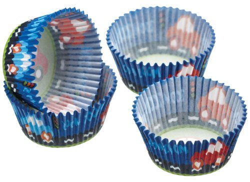 Kitchen Craft - Capsulas Cupcake Car, 60 Unids