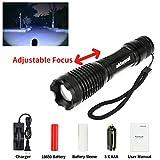 Alldaymall F-927 600 Lumens Zoomable Cree Xm-L T6 LED 5 Modes Adjustable Focus Lighting Lamp Flashlight