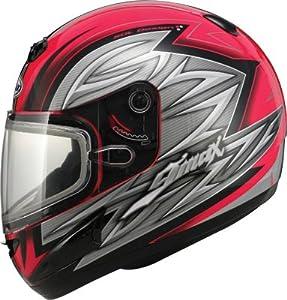 GMAX Gm38S Helmet Red/Black/Silver X G2381207 TC-1