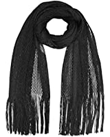 Luxury Divas Lightweight Mesh Metallic Evening Shawl