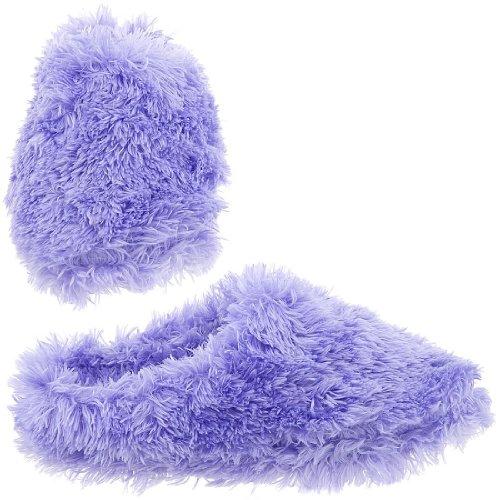 Cheap Purple Fuzzy Slippers for Women (B007TAPIGK)