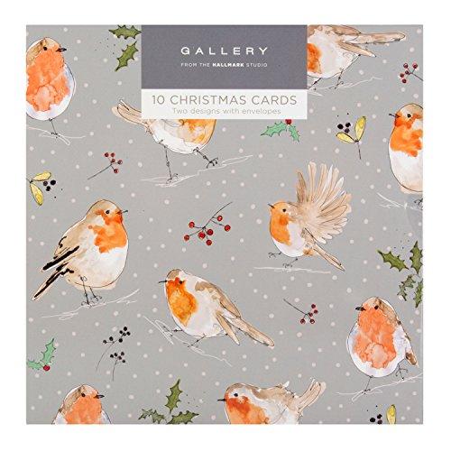 hallmark-tarjeta-de-navidad-gallery-pack-pajaros-10-tarjetas-2-disenos