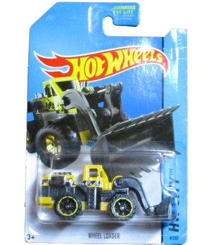 Hot Wheels HW City 2014 City Works - 8/250 - Wheel Loader (Yellow) - 1