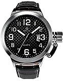 ORKINA ミリタリー マリーン 防水 タフ 日付 レザーバンド メンズ 腕時計ORK174