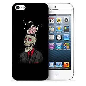 Snoogg Skull With Brain Designer Protective Back Case Cover For IPHONE 5