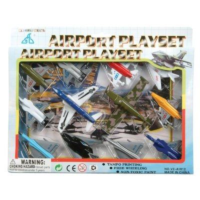 Kids Authority Airplane set - 1 Dozen Assorted Airplane Die Cast - 1