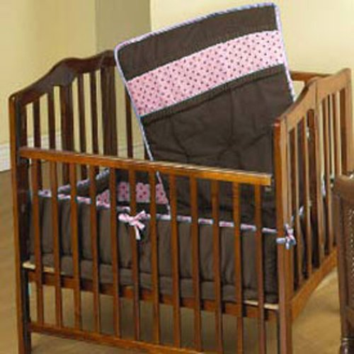 Baby Doll Bedding Cocoa Dots Port-a-Crib Set, Brown/Pink