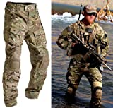 Men Army Military Equipment Airsoft Paintball Shooting BDU Pants Combat Gen3 Tactical Pants with Knee Pads Multicam MC