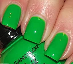 1 New Kleancolor Neon Green Nail Polish Lacquer Full Sz by Home Comforts