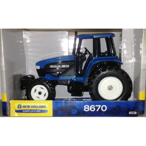 com: ERTL 1/32 die-cast metal New Holland 8670 FWA Blue Tractor 313BN