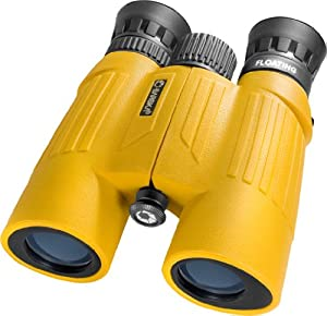 Buy BARSKA 10x30 WP Floatmaster Binoculars (Blue Lens, Yellow) by Barska