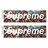 Supreme × UNDERCOVER シュプリーム アンダーカバー BOX LOGO STICKER 2P PACK SET ボックスロゴ ステッカー コラボ BLACK ONE SIZE