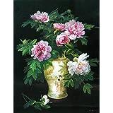 Vitalwalls Pink Flower Modern Flower Oil Painting (Static-455-F-60, Canvas Print, 60 Cm X 77.7 Cm)