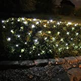 100 White LED Solar Powered Garden Net Light 1.5m x 0.8m by Lights4funby Lights4fun