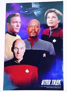 Star Trek Captains Picard Kirk Janeway Sisko Montage 10 x 15 Poster Photo