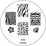 CH2 Nail Art Stamp Stamping Maniküre Nailart Neue Designs Schablone von Cheeky®